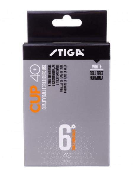 Мячи для настольного тенниса Stiga Cup ABS белый, 6 шт.
