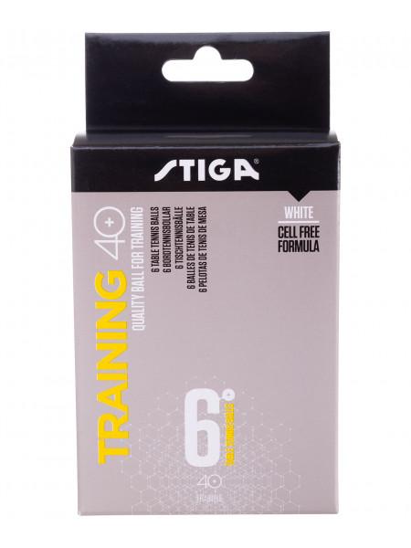 Мячи для настольного тенниса Stiga Training ABS белый, 6 шт.