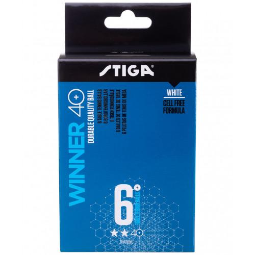 Мячи для настольного тенниса Stiga 2* Winner ABS белый, 6 шт.