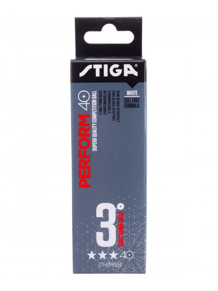 Мячи для настольного тенниса Stiga 3* Perform ABS, белый, 3 шт.