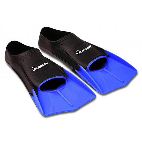 Ласты укороченные силиконовые Larsen 6975 черные/синие