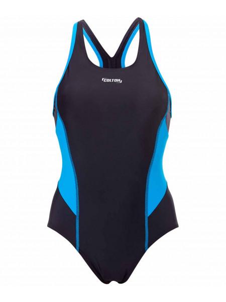 Купальник для плавания Colton SC-3901 Delicate, совместный со вставками, черный/синий, 42-50