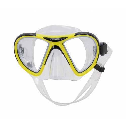 Маска для плавания M-1399 ПВХ желтая
