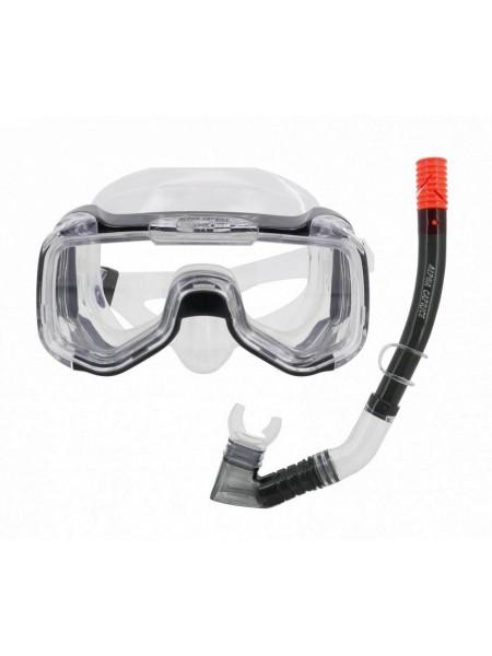 Комплект маска с трубкой для плавания MS-1316S25 СИЛИКОН черный