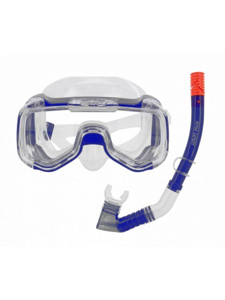 Комплект маска с трубкой для плавания MS-1316S25 СИЛИКОН синий