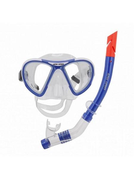 Комплект маска с трубкой для плавания MS-1399S24 ПВХ синий