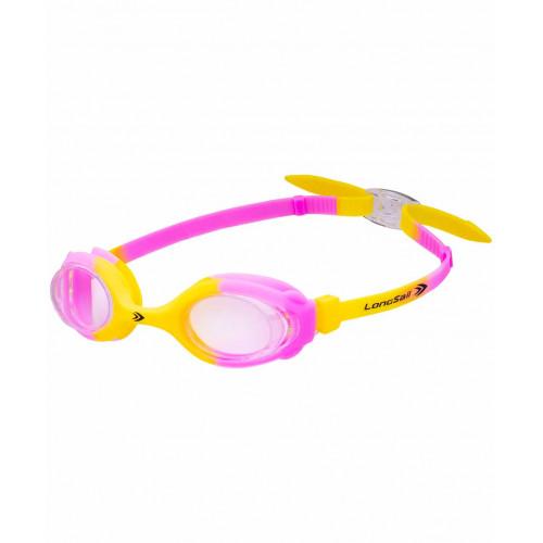 Очки для плавания LongSail Kids Crystal L041231, желтый/розовый