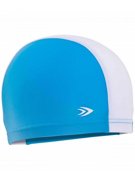 Шапочка для плавания LongSail детская, полиамид, синий/белый