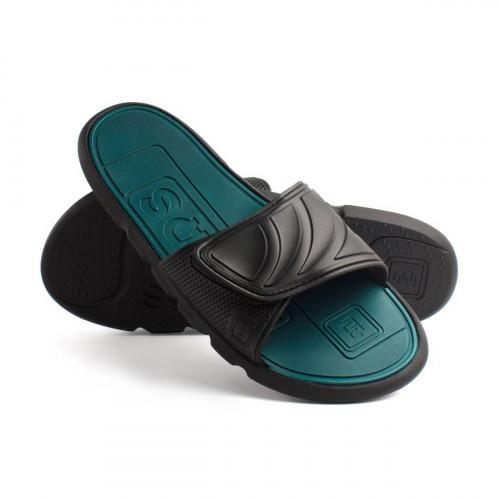 Пантолеты женские EVALUTION Velcrо черные-голубая сталь