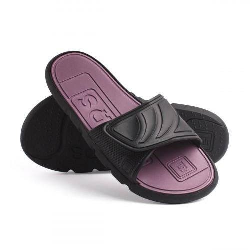 Пантолеты женские EVALUTION Velcrо черные-бордово-фиолетовые