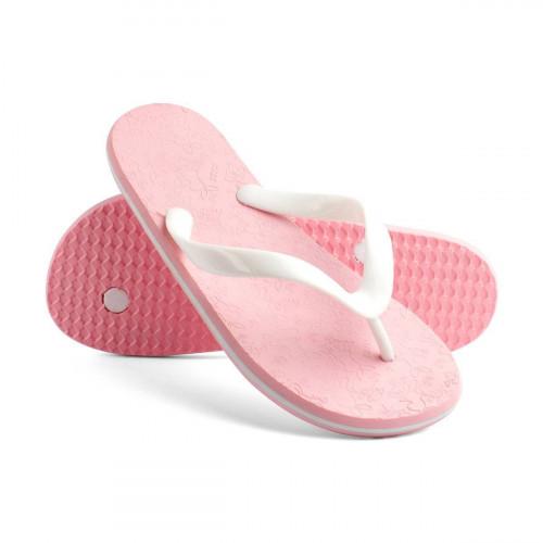 Сланцы детские для девочек Kids Bunnies пастельно-розовый/белый