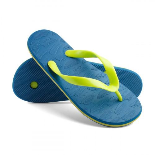 Сланцы детские для мальчиков SpeedBoats, синий/салатовый