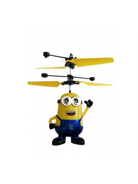 Летающий синий миньон *Дэйв* со светящимися глазами CS Toys 388