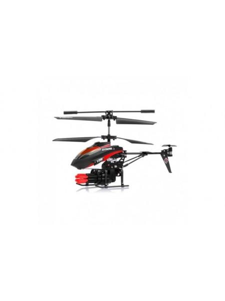 Радиоуправляемый вертолет с ракетной установкой и снарядами WL Toys V398