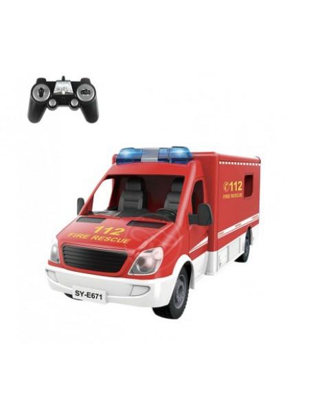 Радиоуправляемая пожарная машина Double Eagle 2.4G E671-003