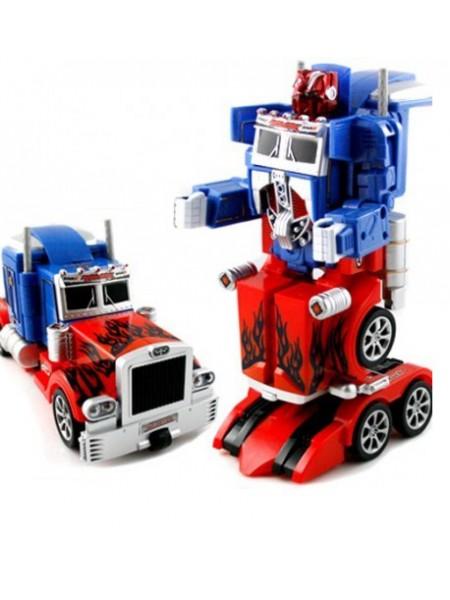 Радиоуправляемый робот трансформер грузовик (синий цвет) Feng Yuan 28128