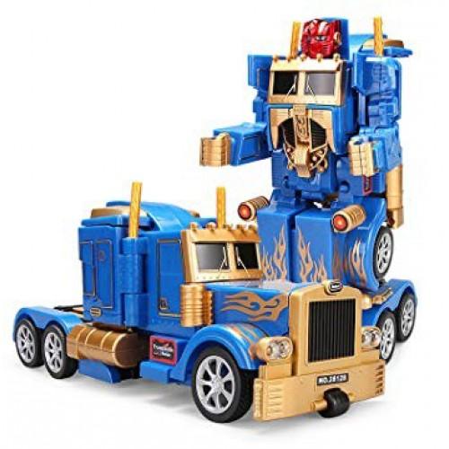 Радиоуправляемый робот трансформер грузовик Feng Yuan 28128-Gold