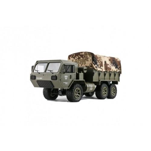 Радиоуправляемая машина американский военный грузовик 6WD RTR масштаб 1:16 2.4G Heng Long FY004A-1