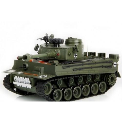 Радиоуправляемый танк German Tiger Green масштаб 1:20 40Mhz Household 4101-2