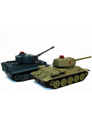 Радиоуправляемый танковый бой Abtoys Т34 и Tiger 1:28 Huan QI 508-555