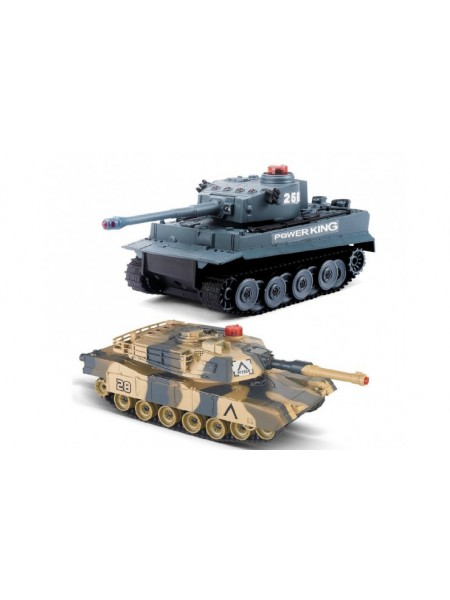 Радиоуправляемый танковый бой 2,4G Tiger vs Leopard 1:28 Huan QI 508C