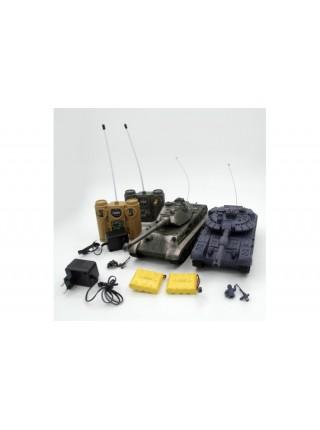 Радиоуправляемый танковый бой T90 и Tiger King масштаб 1:28 ZEGAN 99820