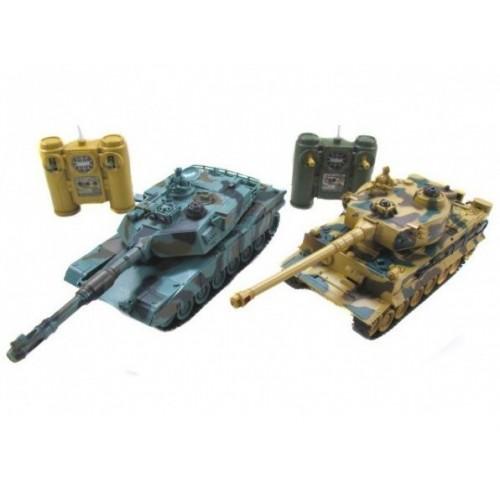 Радиоуправляемый танковый бой Leopard 2A5 vs Tiger I ZEGAN 99823