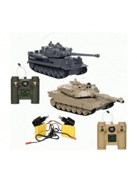 Радиоуправляемый танковый бой M1A2 vs Tiger 1:28 2,4G ZEGAN 99827