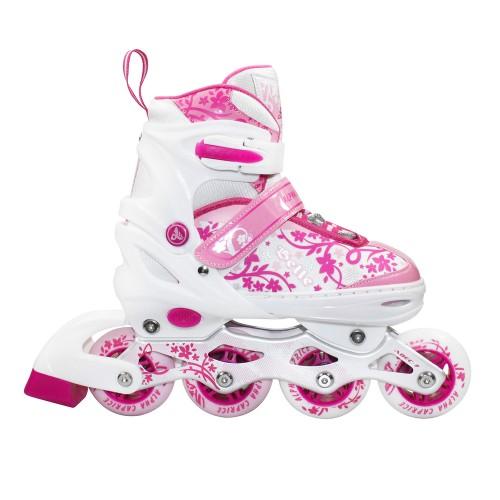 Раздвижные роликовые коньки BELL pink