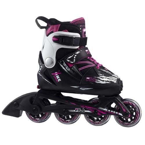 Раздвижные роликовые коньки FILA X-ONE G F20 Black/Pink/Magenta
