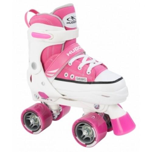 Раздвижные роликовые коньки HUDORA Roller Skate розовый
