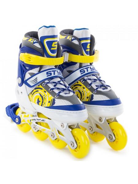 Раздвижные роликовые коньки Start Up Style синий/желтый