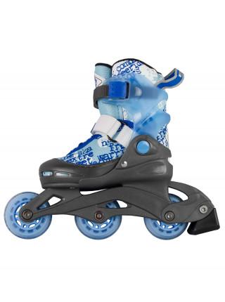 Раздвижные роликовые коньки MaxCity Leon синий