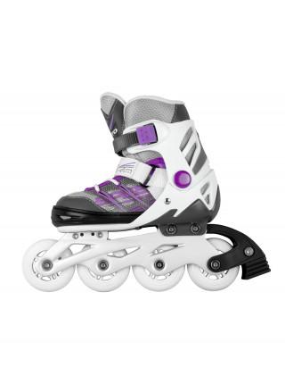 Раздвижные роликовые коньки MaxCity Punto фиолетовый