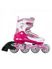 Раздвижные роликовые коньки MaxCity Symbol розовый
