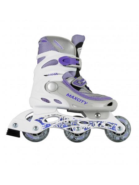 Раздвижные роликовые коньки MaxCity Vista фиолетовый