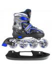 Раздвижные коньки-ролики MaxCity Volt Ice синий