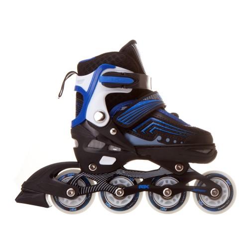 Раздвижные роликовые коньки RGX Atom Blue LED подсветка колес