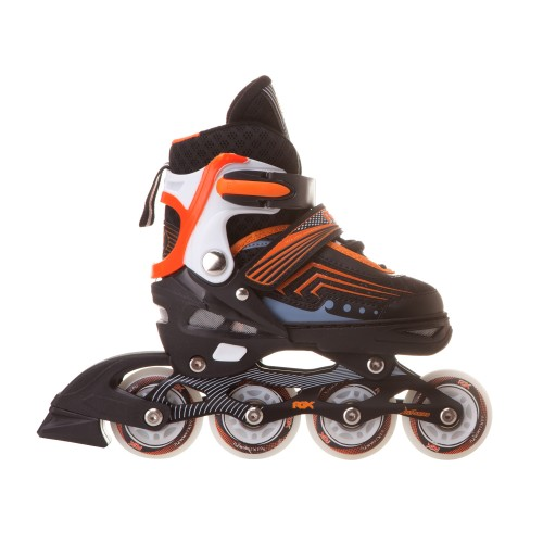 Раздвижные роликовые коньки RGX Atom Orange LED подсветка колес