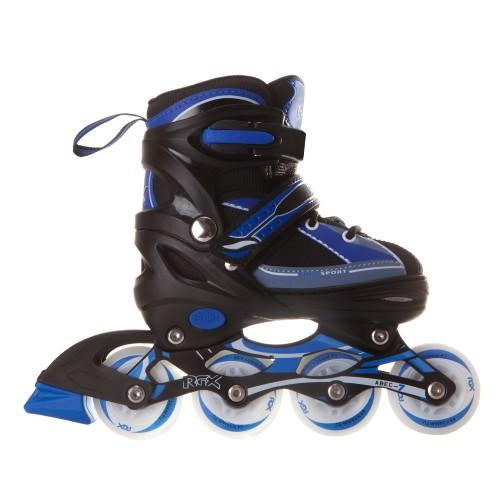 Раздвижные роликовые коньки RGX Fantom Blue LED подсветка колес