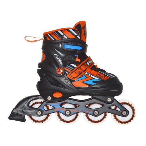 Раздвижные роликовые коньки RGX Racing Orange LED подсветка колес
