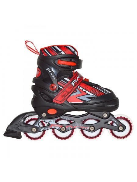 Раздвижные роликовые коньки RGX Racing Red LED подсветка колес