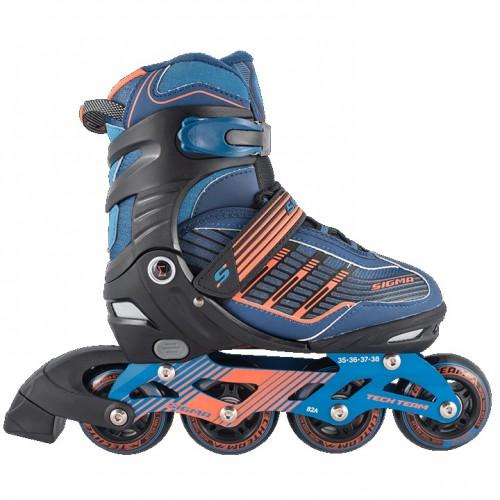 Раздвижные роликовые коньки Techteam Sigma синий