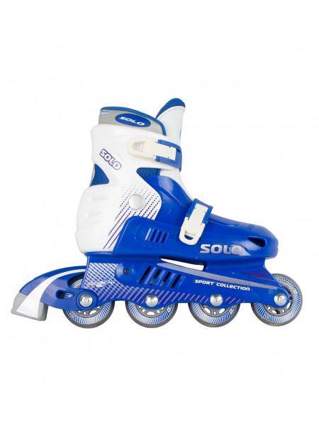 Раздвижные роликовые коньки СК (Спортивная Коллекция) Solo синий