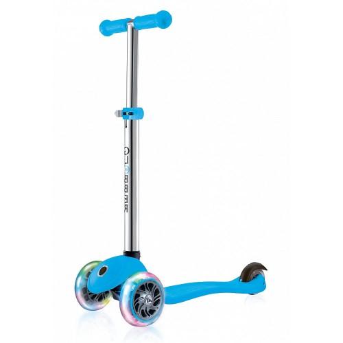 Самокат детский GLOBBER PRIMO LIGHTS (свет. передние колеса) голубой