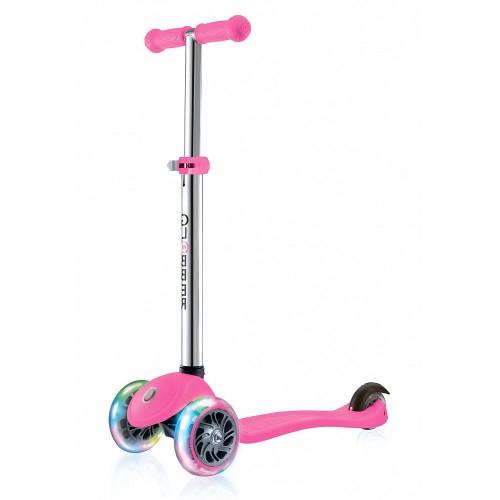 Самокат детский GLOBBER PRIMO LIGHTS (свет. передние колеса) розовый