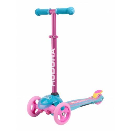 Самокат детский HUDORA Flitzkids 2.0 Skate Wonders розово-голубой