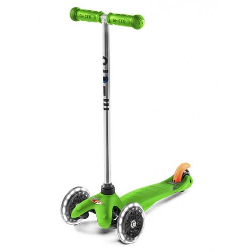 Самокат детский Mini Micro LED (светящиеся колеса) зеленый