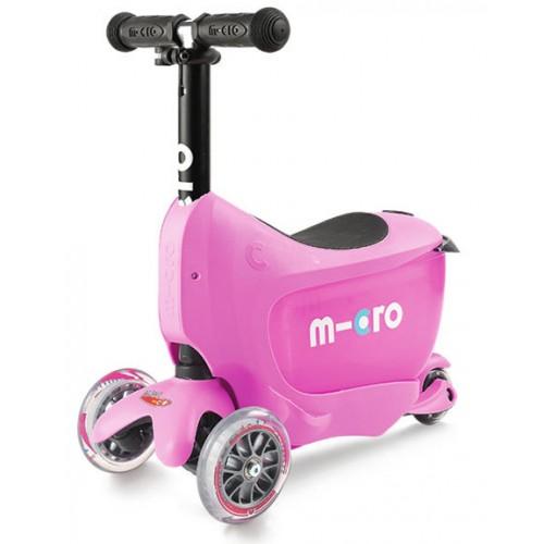 Самокат детский Micro Mini2go Deluxe розовый