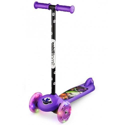 Самокат детский со светящимися колесами 2 в 1 Small Rider Scooter Flash (CZ) фиолетовый